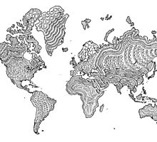 Illustrated World Map by sarahwormann