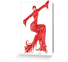 Fire Girl - Series 1 Greeting Card
