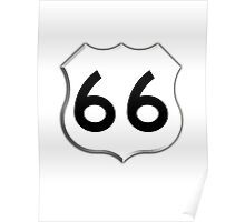 Get your Kicks on Route 66, US 66, USA, America, Will Rogers Memorial Highway Poster