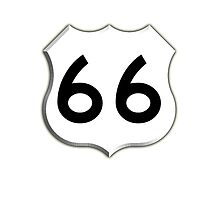 Get your Kicks on Route 66, US 66, USA, America, Will Rogers Memorial Highway by TOM HILL - Designer