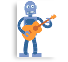 Guitar Robot Canvas Print