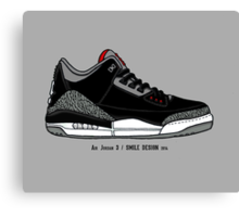 Air Jordan 3 / Smile Design 2014 Canvas Print