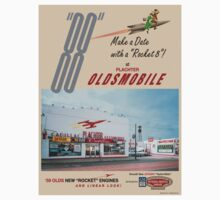 Retro Auto Ad for Platcher Oldsmobile Cadillac 1959 by aladdincolor