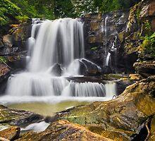 Laurel Creek Falls, West Virginia by Kenneth Keifer