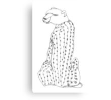 I wonder why this cheetah has the head of a bear... Canvas Print