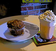 Comic Abstract Muffin and Orange Smoothie by steelwidow