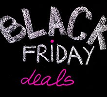Black Friday deals advertisement handwritten with chalk on blackboard by Stanciuc