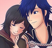 Chrom x F!Robin (Brown Hair) by SaBasse