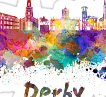 Derby skyline in watercolor Sticker