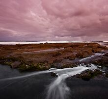 Merewether at Dusk 5 by Mark Snelson