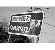 Footscrayzy Photographic Print