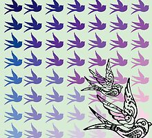 Green Birds by BlairBob