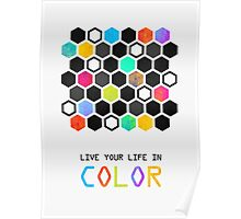 Live your life in color Poster