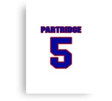 National football player Rick Partridge jersey 5 Canvas Print