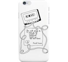 tape deck heart iPhone Case/Skin