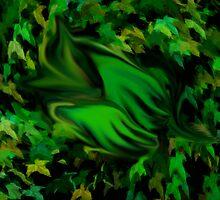 Sleeping forest baby by Aurora