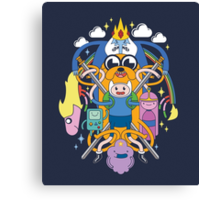 Adventure Time Inspired Multi-Character Design Canvas Print