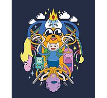 Adventure Time Inspired Multi-Character Design Photographic Print