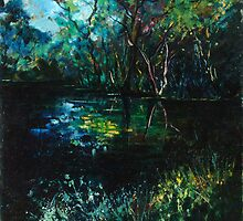 Blue pond by calimero