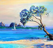 Bribie Island  across Pumicestone Passage by Virginia McGowan
