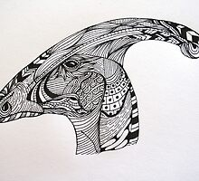 Parasauropholus by thedottedline27