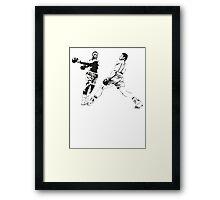 Muhammad Ali vs Joe Frazier - Rumble in the Jungle - Boxing Legends Framed Print