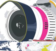 camera and brush Sticker