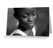 Serenity Smile from Liberia Greeting Card