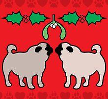 christmas pugs & kisses by gray79