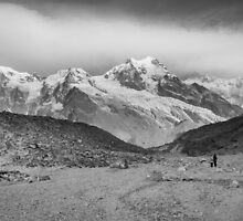 Kanchenjunga and Hikers by Brent Olson