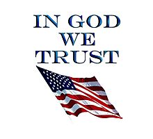 America, In God we trust, USA, American official motto by TOM HILL - Designer