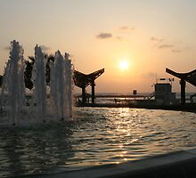 Fountain by the sea by Segalili