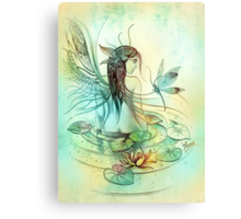 """THE AQUARIUS"" - Protective Angel for Zodiac Sign Canvas Print"