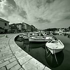 Boats at Stari Grad  by Rob Hawkins
