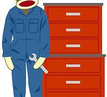Sock Monkey Mechanic by pounddesigns