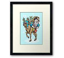 A One Piece Holiday Framed Print