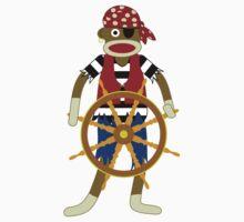 Sock Monkey Pirate Kids Clothes