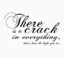 there is a crack by tiffanyo