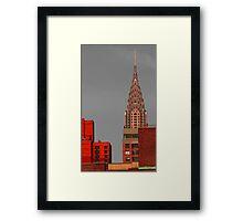 Evening Burn - Chrysler Building, New York City Framed Print