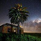 Eudunda ruin on a Moonless Night by pablosvista2