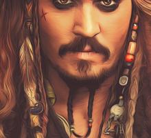 Jack Sparrow | Digital Painting  Sticker