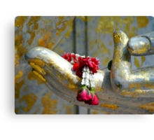 Hand And Garland Canvas Print