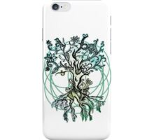 Coloured psychedelic tree iPhone Case/Skin