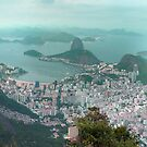 Sugar Loaf from Corcovado by kuntaldaftary
