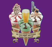 Three Flavours Cornetto Trilogy with banner T-Shirt