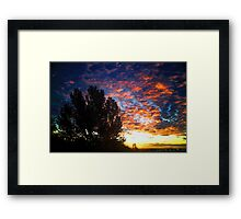 September Skies Framed Print