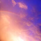 rainbow in purple clouds by rkdogz