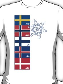 Nordic Cross Flags T-Shirt