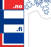 Nordic Cross Flags Sticker