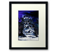 Ghostly ship Framed Print